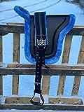 Equipride Bareback - Silla de Montar para Caballos con estribos, Color Azul