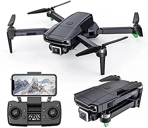 FPV RC Drone GPS Drone con cámara 4K para adultos, motor sin escobillas 5G Wifi Transmisión FPV Live Video Drone, RC Quadcopter con retorno automático a casa, Sígueme, Waypoints, Circle Fly, Estuche