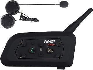 Mihono 6Riders インカム バイク用 V6Pro 昇級版 1200M 12時間通話通信機器 IP65防水 高音質 gps Bluetooth ツーリング ヘルメット用 インターコム ヘッドセット 日本語取扱書 技適認証済