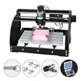 CNC Router 3018 Pro Max Engraver Wood Milling Machine, Mac OS/Windows Supported, 3 Axis XYZ Carve, with USB Flash Drive,...