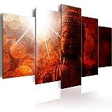 murando - Cuadro en Lienzo Buda Zen SPA 200x100 - Impresión de 5 Piezas Material...