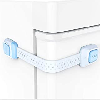 LOVE PEACE Best Baby Proofing Cabinets,8 Colorful Packs,Child Proofing Adjustable Dual Key Function Strap,Refrigerator Loc...