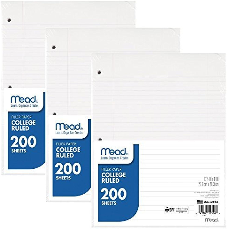 Mead 73185 Mead Füllpapier, lose Blätter, 200 Count, liniert, liniert, liniert, 26,7 x 20,3 cm, 3er-Pack B01IQ7N1IQ  | Rich-pünktliche Lieferung  aa8725