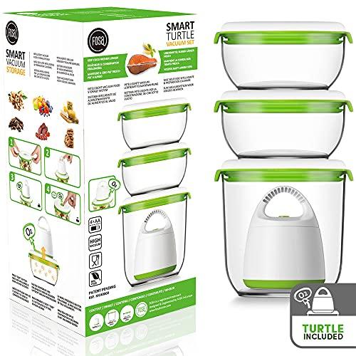 FOSA STARTER Kit pour la Mise Sous Vide, la conservation et la préparation culinaire, 2 Contenants 600 ml et 1 Contenant 1350 ml