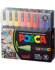 Posca Paint Marker Pen - PC-5M Extra Fine 1.8-2.5 mm, 16 Colors
