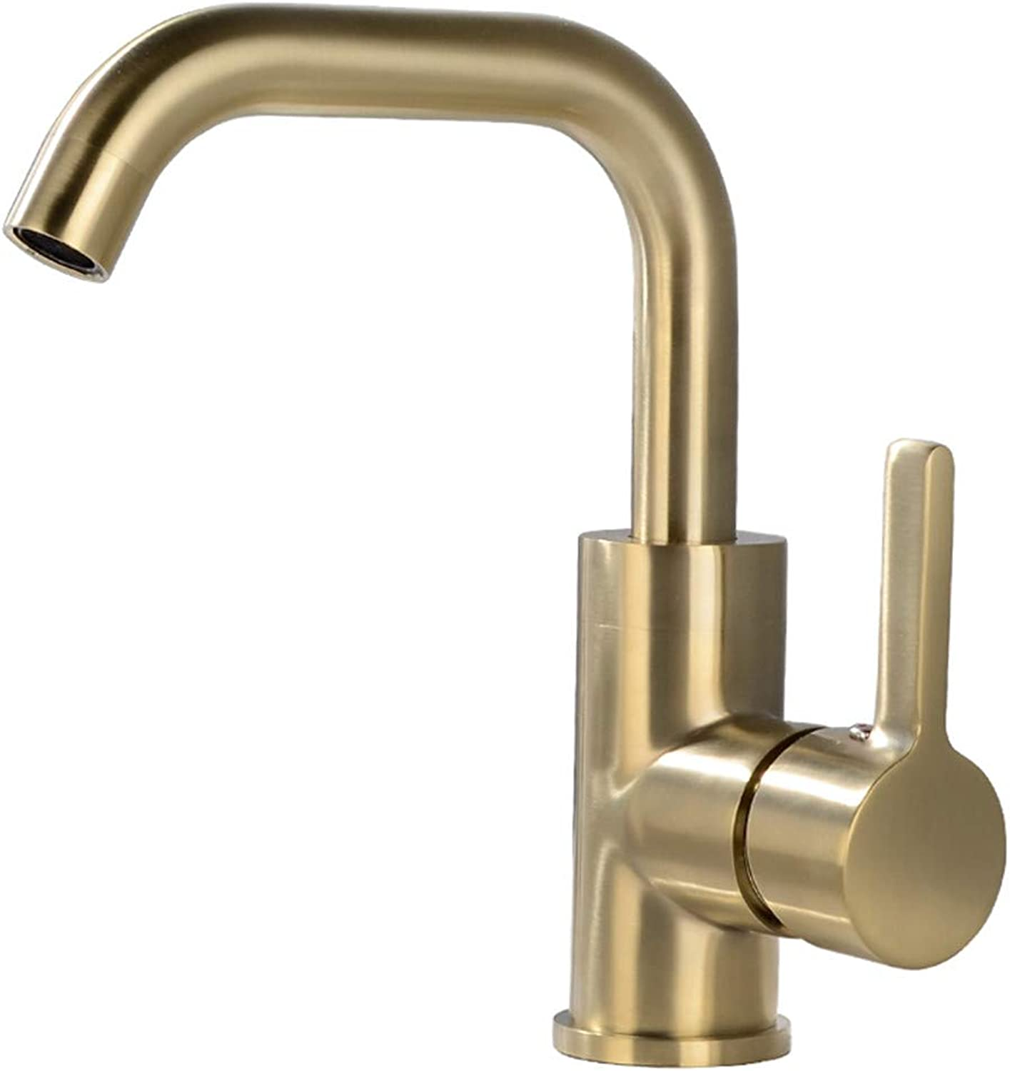 PajCzh Taps Taps Faucet Faucet Hotel Basin Faucet Copper Hot And Cold Water Home Bathroom Wash Basin Bathroom Basin Single Hole Faucet, A, 1