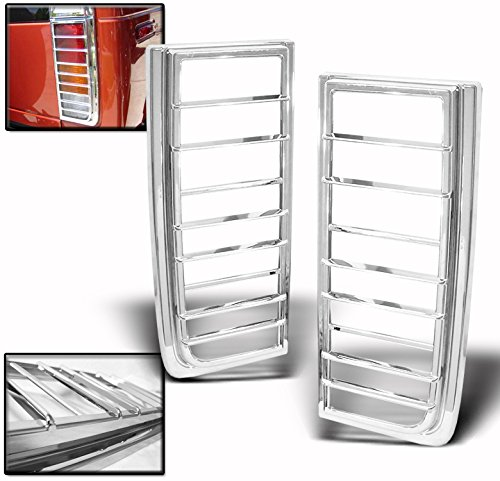 ZMAUTOPARTS For 2003-2009 Hummer H2 Tail Light Covers Trims - Chrome