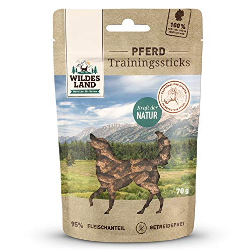 Wildes Land Trainingssticks Pferd Snack 8 x 70 g