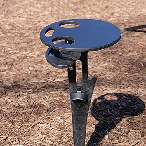 DINGDONGI Mesa de vino portátil al aire libre titular de madera mesa de picnic elegante mini mesa de picnic para fiesta al aire libre