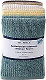 Bumble - Confezione da 12 Asciugamani antimicrobici da Cucina, 40,6 x 48,3 cm, in Cotone Pesante e Tessuto a Coste Pulito.