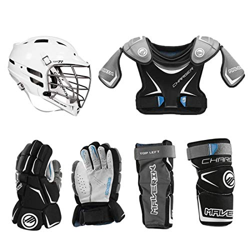 Lacrosse Unlimited Maverik Charger EKG Youth Starter Set 4-Piece(Cascade CPV-R) - No Stick (Youth Small)