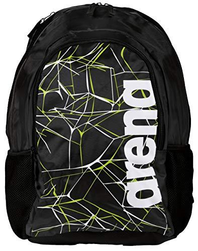 Arena 001480/500 mochila Nylon, Poliéster Negro - Mochila para portátiles y netbooks (Nylon, Poliéster, Negro, Ciudad, Estampado, Unisex, Bolsillo frontal, Bolsillo lateral)