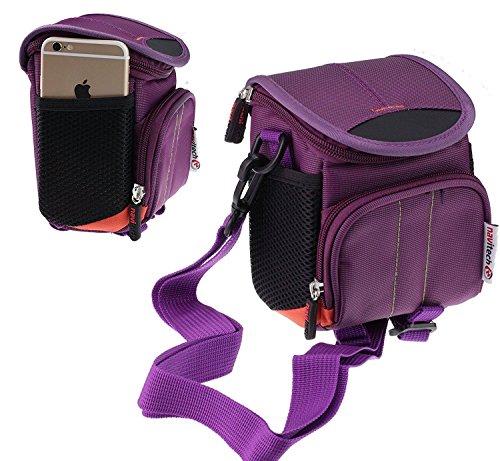 Navitech Étui Violet Pour Panasonic HC-V160