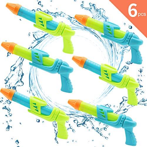 Next Wasserpistole für kinder, 6er Pack Wasser Blaster mit 10m Reichweite, Ultra-Tragbare Spritzpistole für Sommer Partys Pool Garten Strand, Perfektes Geschenk für Kinder Jungen Mädchen