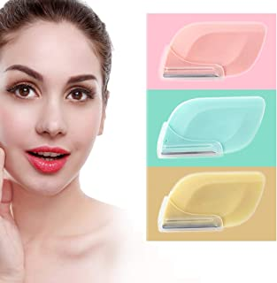 Eyebrow Razor For Women Facial Razor For Women Peach Fuzz Facial Hair Fuzz On Face Upper Lip Eyebrow Trimmer Shaper Shaver Safty And Portable For Men And Women 3 Pieces