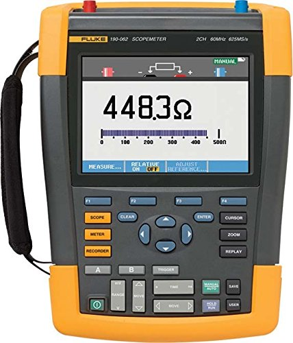 Fluke Scope metros 60MHz Color Fluke 190–062/S 625mws/S con SCC Kit de osciloscopio 0095969601344