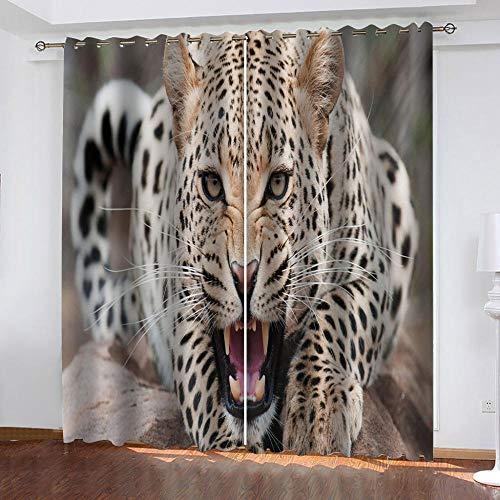 cortinas comedor leopardo