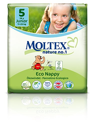 Moltex - Couches Jetables - Couches Eco 11 - 25 kg Junior - 32 couches