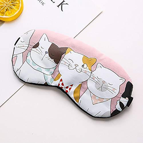 XXF Schlafmaske, Cotton Cartoon Eyepatch Cute Funny Anime Schlafmaske Mit EIS-Tasche Für Reisen Schlaf Relax,D