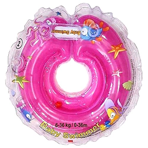 Baby Flotador Tüv GS Cuello Anillo de Natación (Talla 6–36kg (0–36Meses) Flotador para bebé de Natación Anillo de Baño Ayuda schwi mmtra Iner en Color Rosa