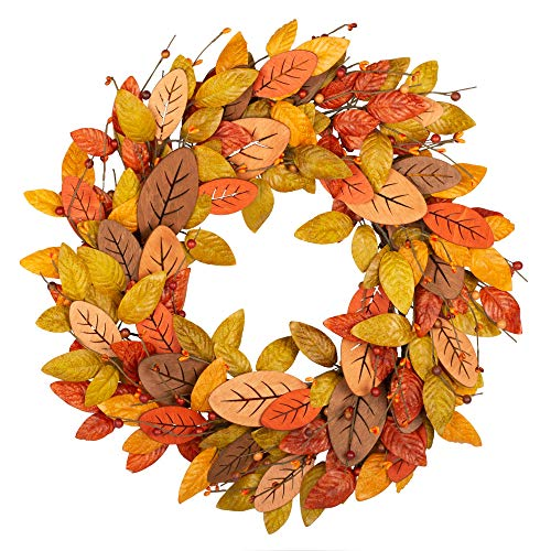 simple fall wreath for front door