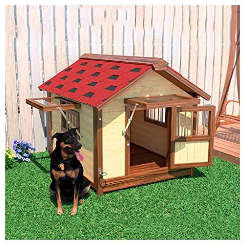 TYX Casetas Perros Exteriores Resistente Agua, Casa Perro Refugio Perros Madera Perreras Perros, para Villas Perros Pequeños Jaula Perros Prueba...