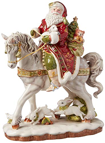 Fitz and Floyd Damask Holiday Collectible Figurine, 16-Inch, Muli Colored -  Lifetime Brands Inc., 19-608