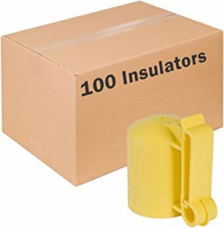 Zareba ITCPY-Z Saftey Cap and Insulator, 100 Pack