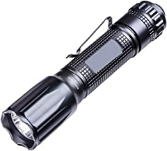 LED Torch Light Powerful Flashlight Waterproof for Outdoor Camping Hiking Electric (Color : Black)