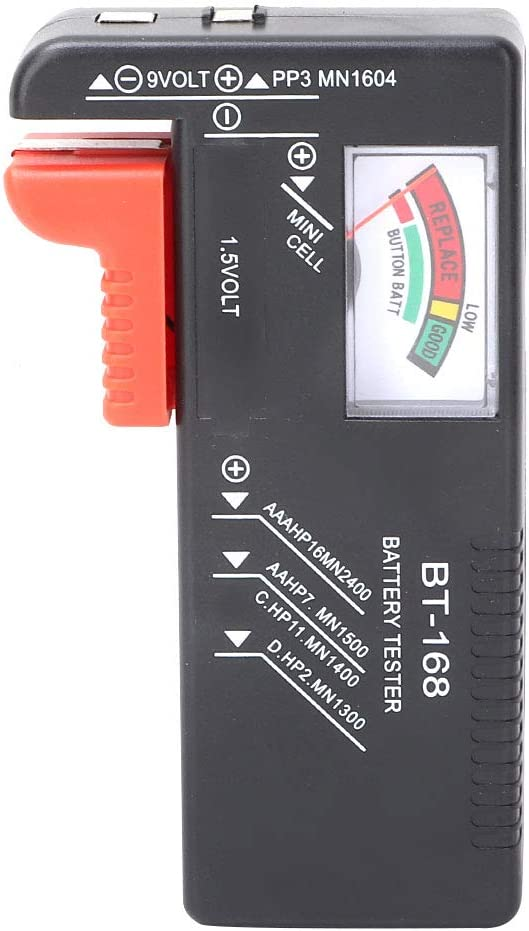 QiruIXinXi Battery Tester, Battery Measuring Instrument, Digital Battery Capacity Volt Tester for Test Whether The Battery Capacity of 1.5V and 9V Battery is Sufficient