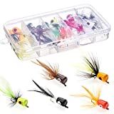 HXC Tamaño 8 Bass Pike Pesca Moscas Kit Agua Salada Trucha Perca Chub Fly Fishing Lures Set con...