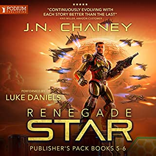 Renegade Star: Publisher's Pack 3                   Written by:                                                                                                                                 JN Chaney                               Narrated by:                                                                                                                                 Luke Daniels                      Length: 10 hrs and 43 mins     2 ratings     Overall 4.5