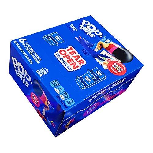 Kellogg's Pop Tarts Froot Loops 12 pasteles (6 bolsas de 2) 20.3oz / 576 g importados de EE. UU.