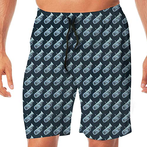 Ye Hua Herren Sportbekleidung Tuba Aquarell Sommer Atmungsaktive Schnelltrocknende Badehose Strandshorts Cargo Shorts XXL