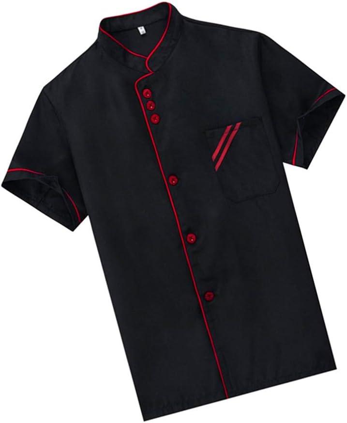 DOITOOL Unisex Short Spasm price Sleeve Chef Jacket Coat Ultra-Cheap Deals Uniform Basic