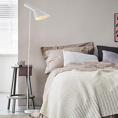 Koper Simple Cafe Slaapkamer Sofa Hotel Apartment LED Staande lamp Simple Creative Decoration (Color : White)