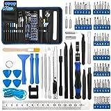 Luxebell - Juego de destornilladores de precisión 88 en 1 con puntas magnéticas profesionales de reparación para teléfonos móviles, tabletas, consolas de juegos y maquinilla eléctrica