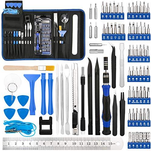 Luxebell Feinmechaniker Schraubendreher Kit, Schraubendreher-Set mit Magnetbits Professionelles Reparatur Tool Kit für Mobiltelefone, Tablets, Spielekonsolen und Elektrorasierer (Blau)
