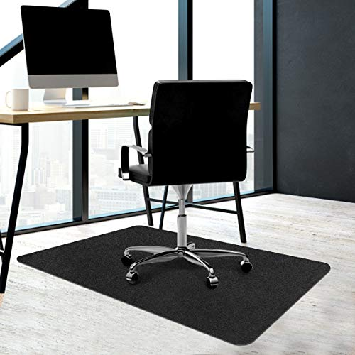"""Office Chair Mat, Upgraded Chair Mat Floor Protector Freely Cuttable Opaque Hard Floor Mat for Desk&Chair, Multi-Purpose Chair Carpet for Home&Office 0.16"""" Thick 55""""X35''(Dark Gray)"""