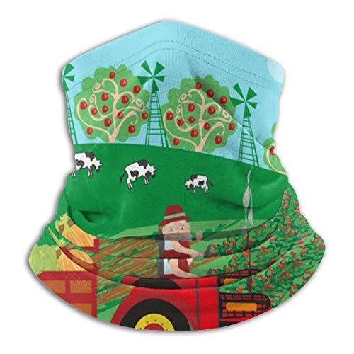 senob grootvader rijden trekker met oogst fruit hoofddeksels nek Gaiter Warmer winter ski buis sjaal masker fleece gezicht cover aangepast