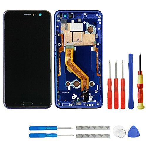 """SWARK 5.5"""" Display LCD Komplett Einheit Für HTC U11 + Rahmen Reparatur (Sapphire Blue)"""