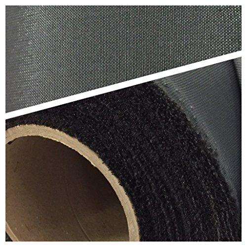 D-Tex Sonnensegel Outdoorstoff Meterware 190cm Breite UV-Stabil waschbar (1lfm, Dunkelgrau)