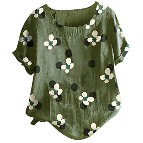 T-Shirt Damen Bluse Blusen Tunika Tops Hawaii Shirt Oberteil Hemd Hemdbluse Shirt...