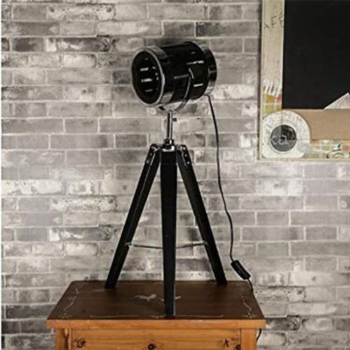 DJSMtd Searchlight Lámpara de pie Luz de escenario Fotografía Trípode Moderno minimalista salón reclinable lámpara de mesa de madera (14 * 19.5/33 * 64 cm) Edición limitada