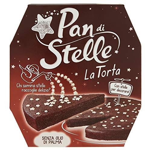 Pan di Stelle Torta Pronta da Gustare al Gusto di Cioccolato e Cacao per una Merenda Gustosa e Morbida, 435 g