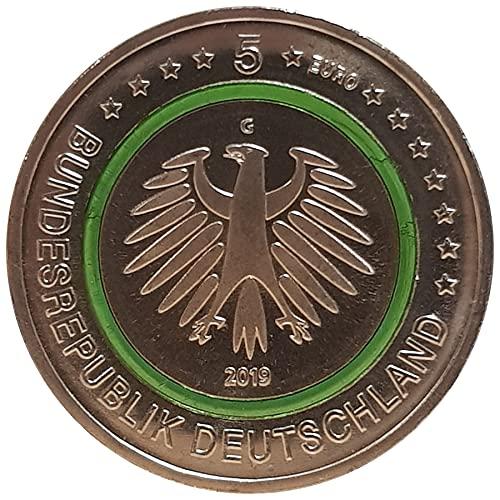 5 € Deutschland 2019 - Gemäßigte Zone. Aus der Serie Klimazonen der Erde