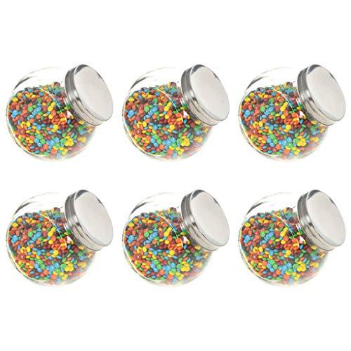 Festnight Tarro de Caramelos Botes para Chuches Candy Bar Tarros 6 unidades 1400 ml 15,5x10,5x15 cm