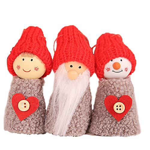 Wicemoon Décorations de Noël Décoration Pendentif Arbre de Noël Ornement Suspendu Bonhomme