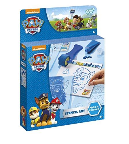 Nickelodeon Paw Patrol Marshall und Chase Mal-Set mit Malschablonen, Farbroller, Farbtube, Zeichenblock und bunten Stickern – TM Essentials 720053