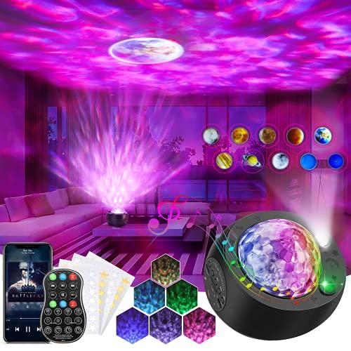 Sternenhimmel Projektor, AMBOTHER LED Sternenlicht Projektor, 10 Planeten Nachtlicht Projektionslampe, USB Starry Musik Projector Lampe mit Fernbedienung für Kinder Erwachsene